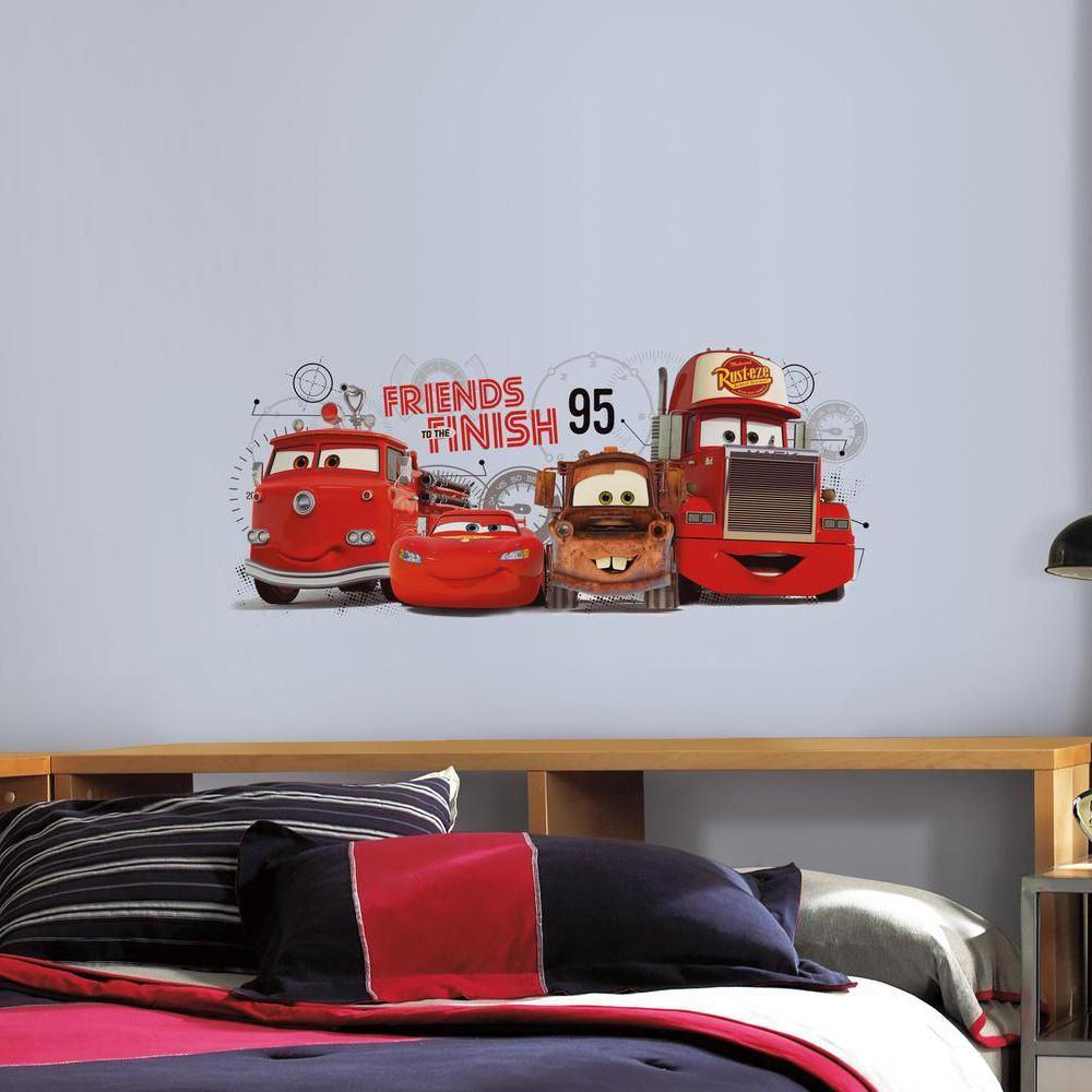 Cars 2 Friends To The Finish Wall Decals Disney Cars Wall Stickers Dining Room [ 1000 x 1000 Pixel ]