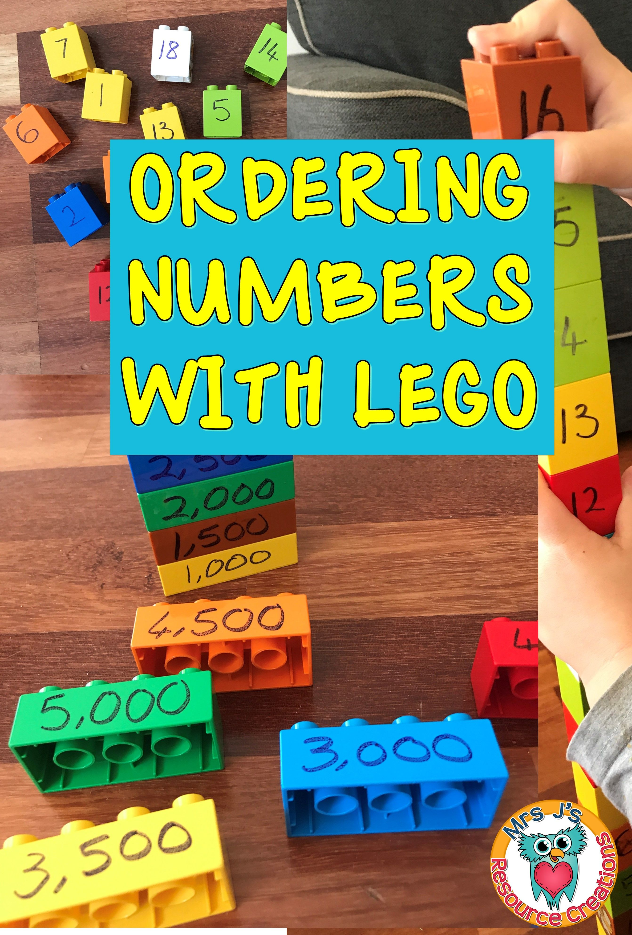 Ordering Numbers With Lego Easy To Differentiate Fun