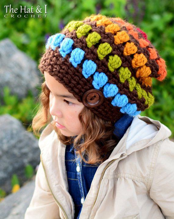 CROCHET PATTERN - Bohemian Nights Hat - chunky crochet hat pattern ...