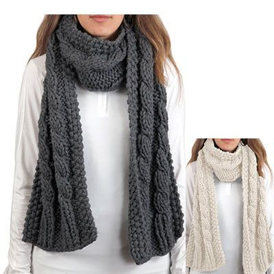 The Ariat Women's Cable Scarf is a cozy, chunky knit scarf perfect to keep  you warm while at the barn or running errands on a cold day.