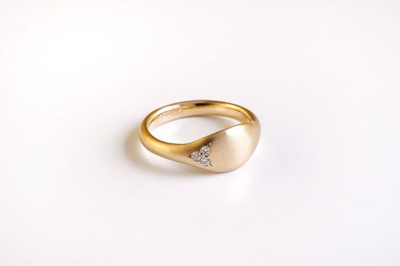 Diamonds Gold Pinky Ring Solid 14k 18k Yellow Gold Ring Etsy Ladies Diamond Rings Unique Diamond Rings 18k Gold Wedding Rings