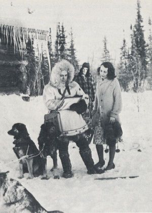 A 1940 census taker uses sled dogs to make sure that even people in remote areas of Alaska are enumerated.  (Only 27 more days!)