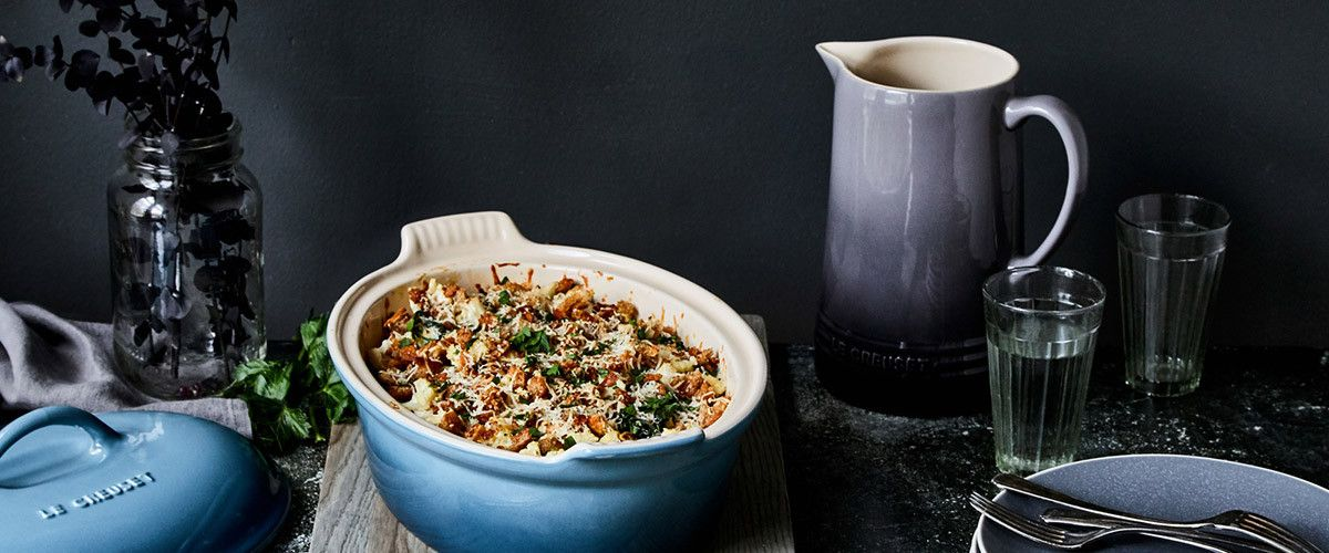 Cauliflower And Kale Casserole With Brown Butter Breadcrumbs Le
