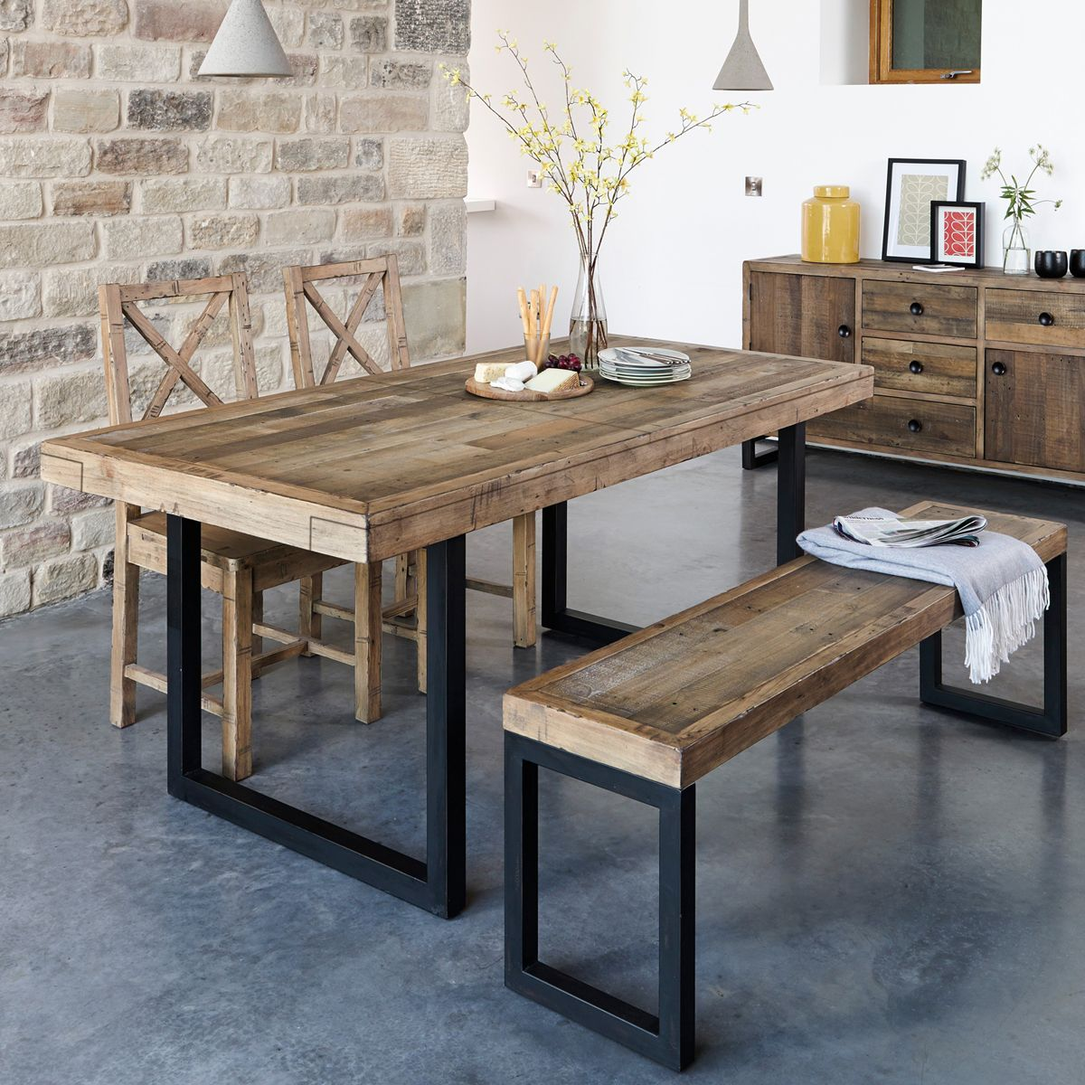 Table A Manger Extensible Bois Recycle 140 180 Brisbane Tables A Manger Pier Import Salle A Manger Bois Table Salle A Manger Table A Manger Extensible