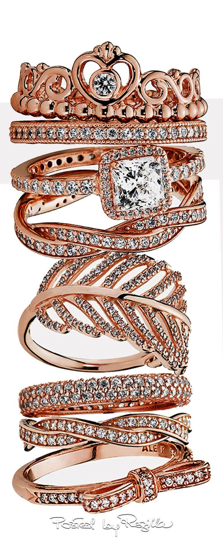 Excellent ueue pandora rings princess crown marvelous jewels and