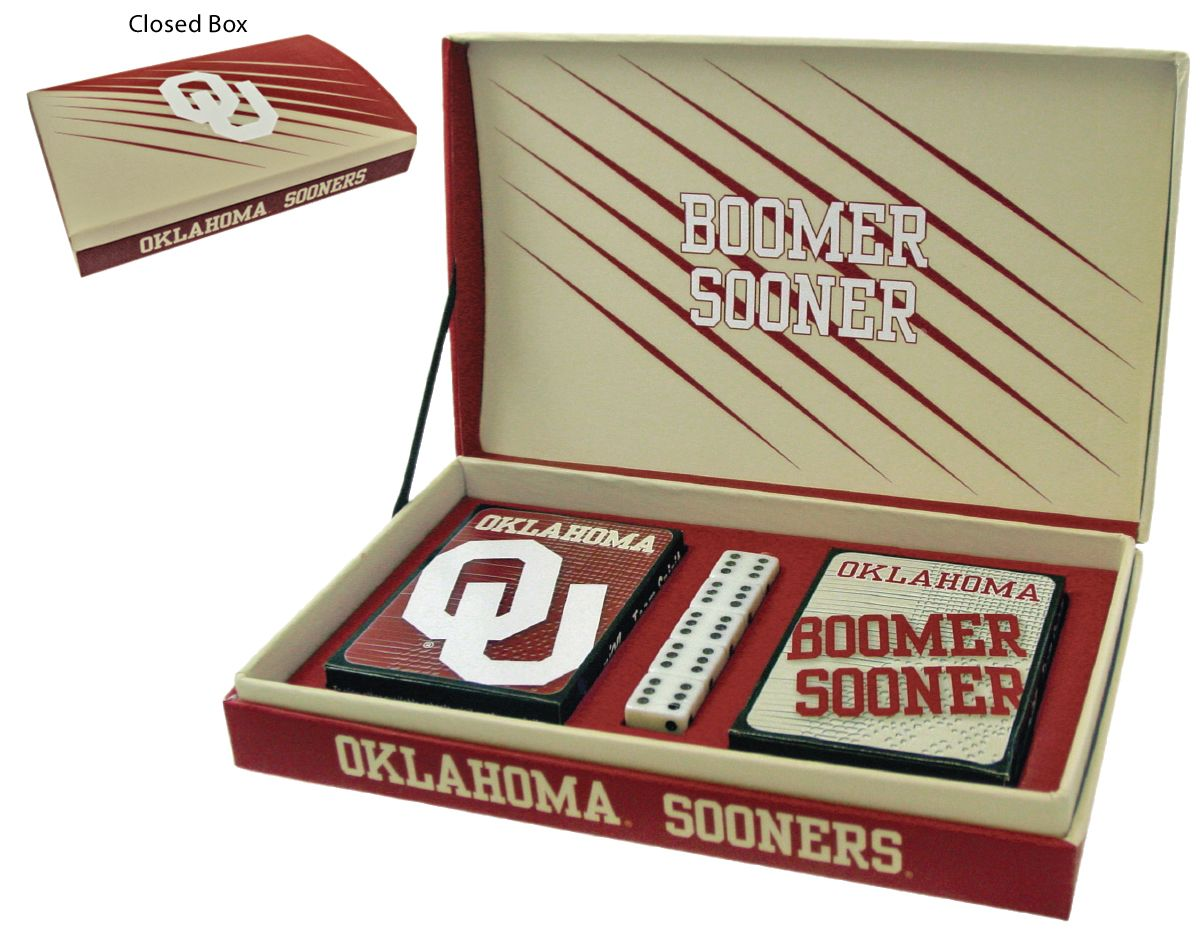 Oklahoma Sooners Playing Card Gift Box | COLLEGE (NCAA ...