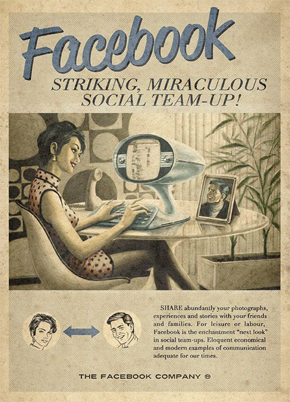 Contoh Iklan Facebook Poster Retro Iklan Vintage Periklanan