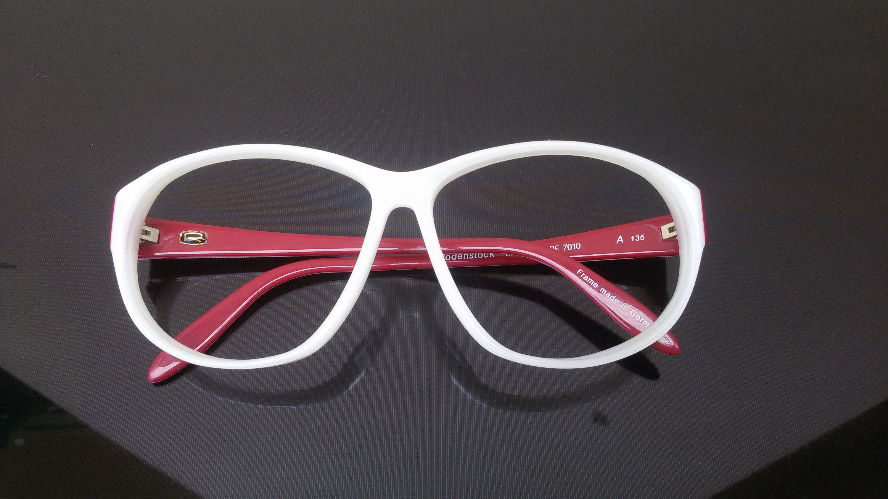 7ce2da241f €51 Great quality eyeglasses by Rodenstock from the 80 s. To the present  day this piece is in perfect condition as it were new. Shiny white front  with red ...