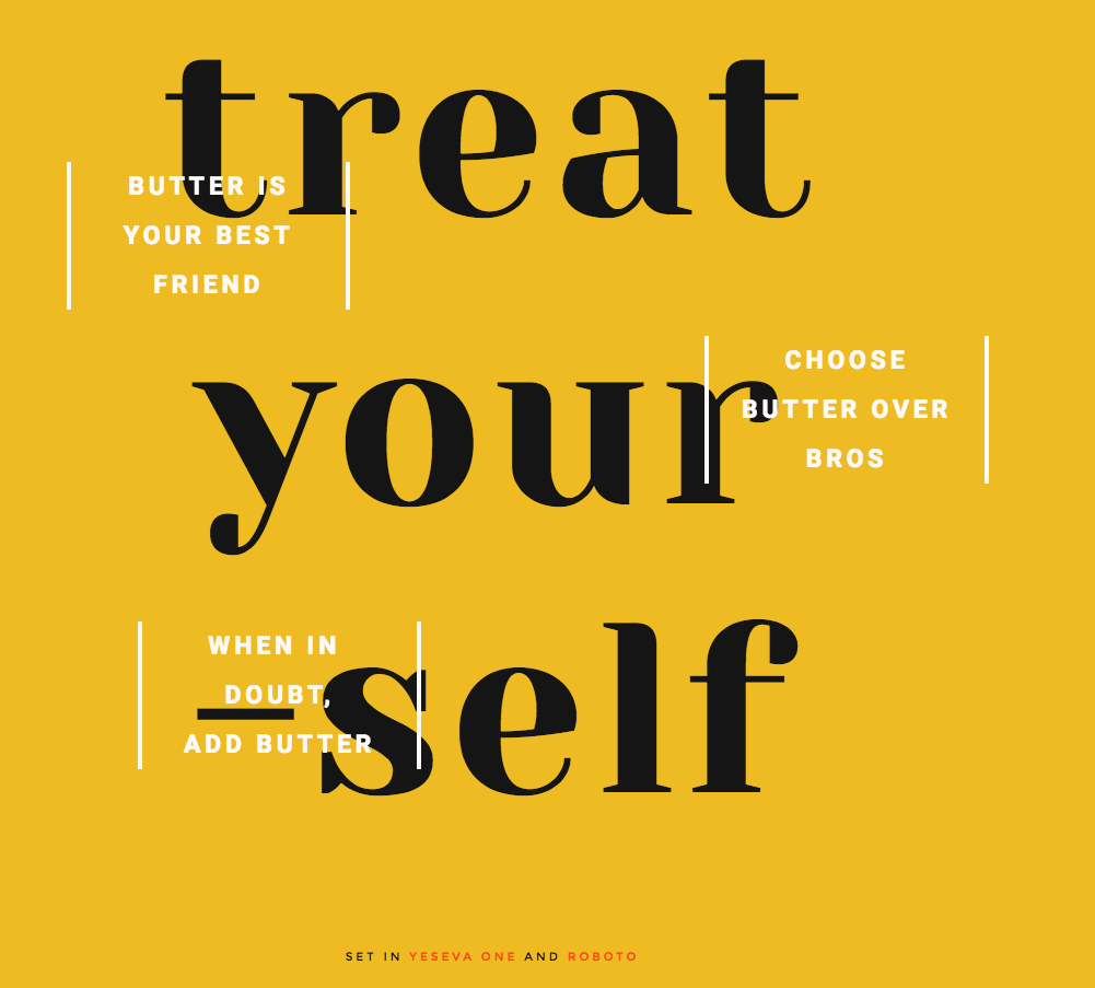 font pairing: SET IN YESEVA ONE AND ROBOTO | Fonts