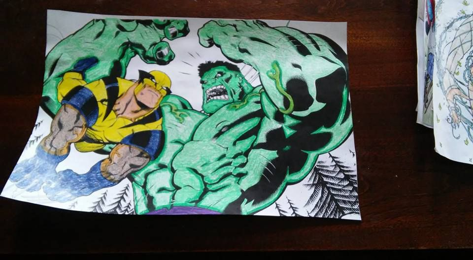 Wolverine Vs Hulk Color You Own Wolverine Art Painting Coloring Pages