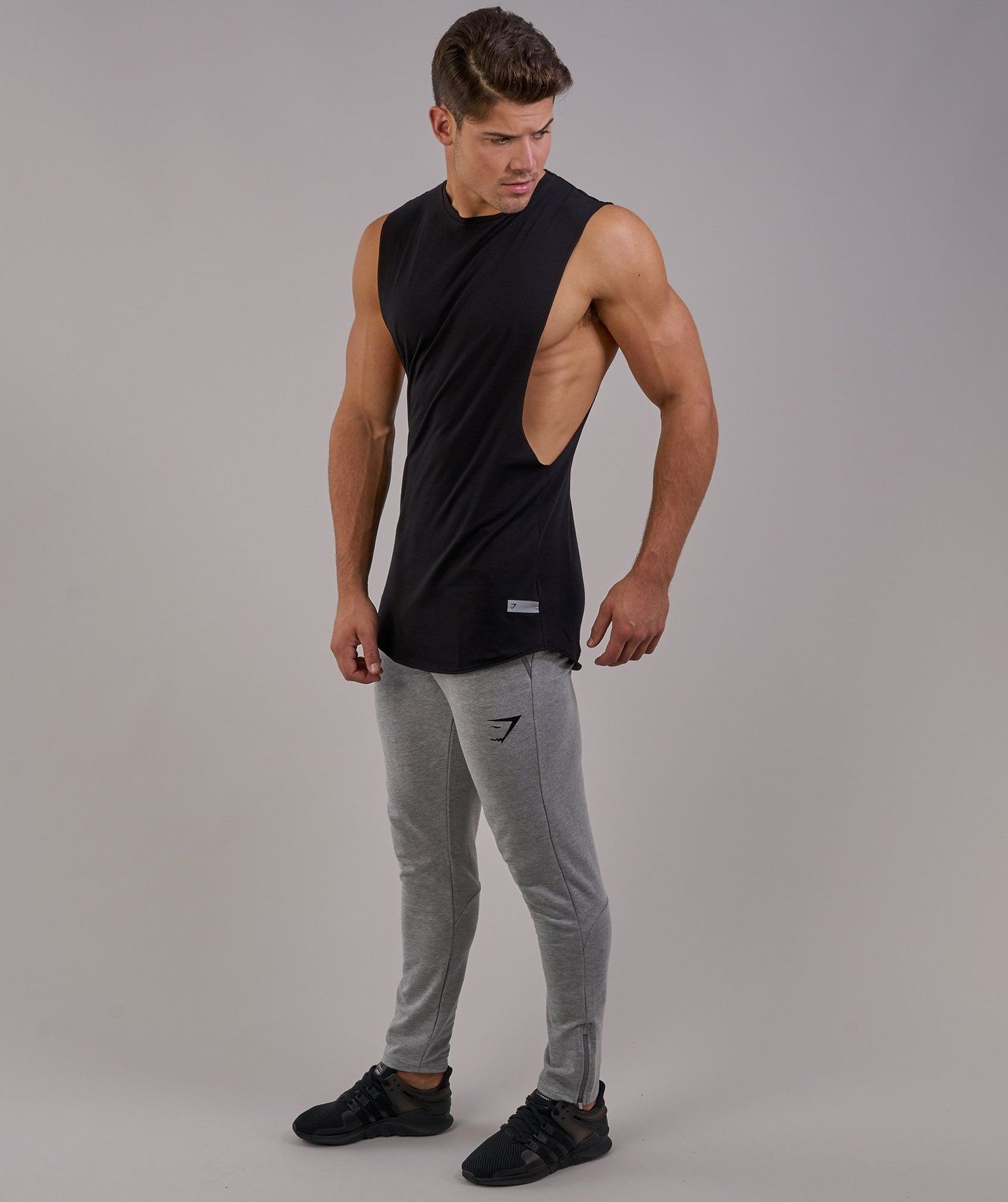 77d625ad2 Gymshark Eaze Sleeveless T-Shirt - Black 2