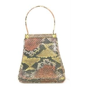 Judith Leiber Japanese Flower Pattern Clutch Evening Shoulder Bag Bags Portero Luxury Judith Leiber Handbags Bags Evening Handbag