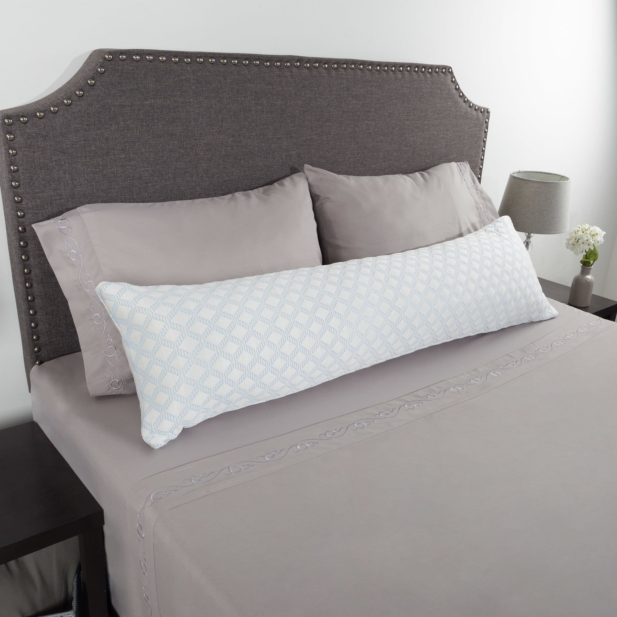 Windsor Home Memory Foam Body Pillow With Stay Cool Cover Memory
