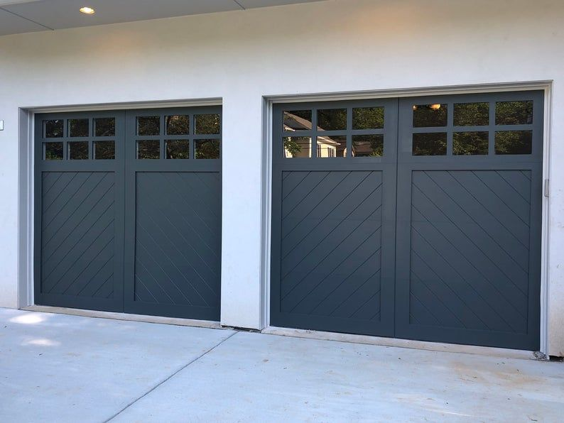 Cielo Herringbone Spanish Style Custom Wood Garage Door In 2020 Custom Wood Garage Doors Wood Garage Doors Garage Door Styles