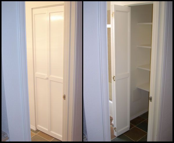 New Bi Fold Door And Shelving For Bathroom Closet Part 11