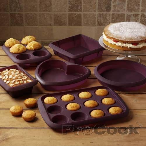 Procook Silicone Bakeware Set 6 Piece Baking Silicone Bakeware