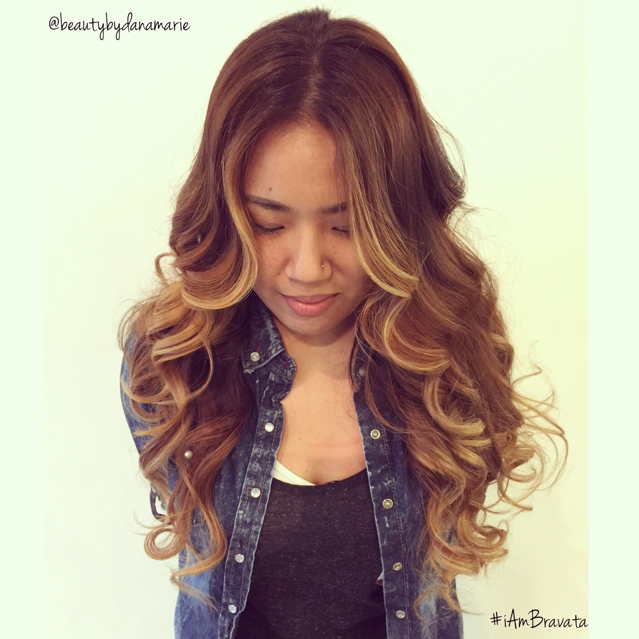 Balayage ombre Asian hair