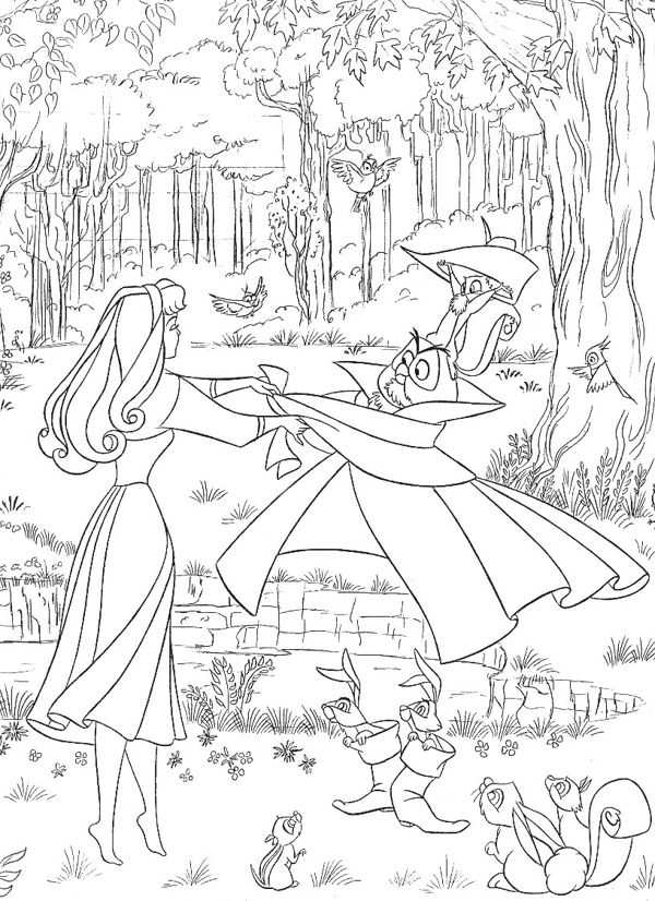 Sleeping Beauty Disney Coloring Page Coloriage La Belle Au Bois