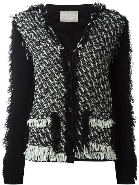 Drop Shipping Ordre D'achat Pas Cher Ruffled Tweed CardiganLanvin Coût De Dédouanement Jeu À Vendre O4441V