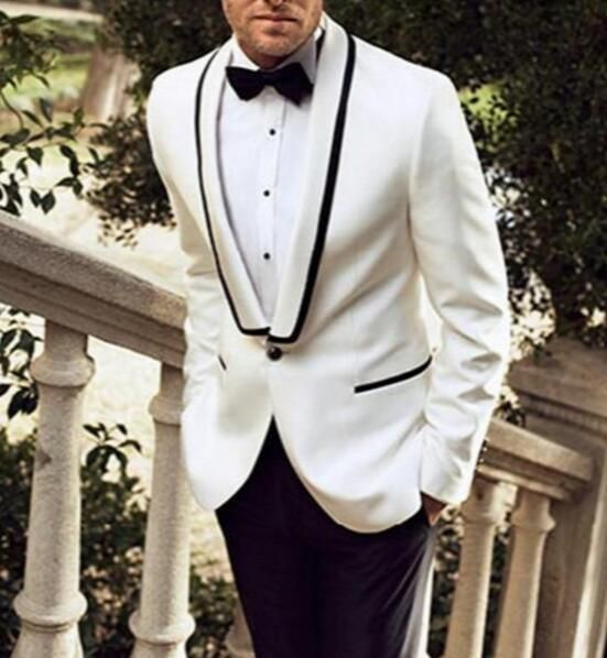 Cheap suit sneakers, Buy Quality suit fabric directly from China suit back  neck designs Suppliers: New Custom Made White Jacket Black Pants Traje De  Hombre ...