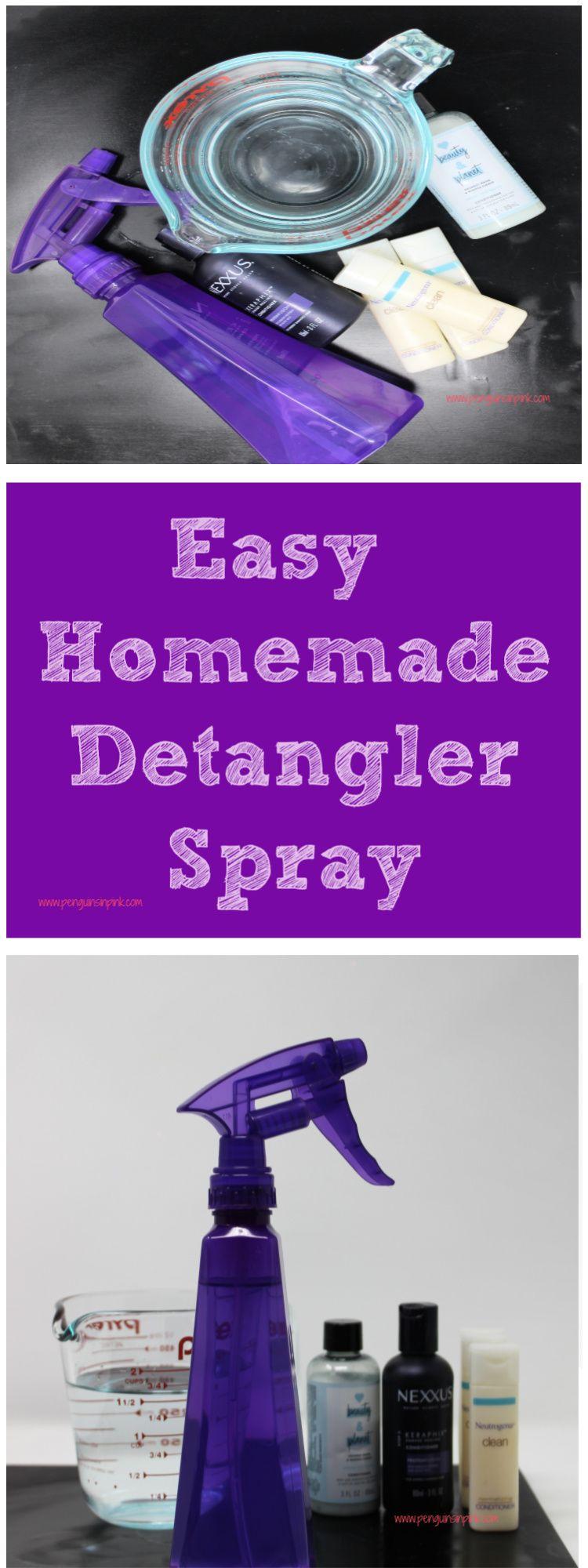 Easy Homemade Detangler Spray Detangler spray, Detangler