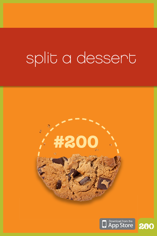 Sharing A Dessert Will Satisfy Your Sweet Tooth And Save