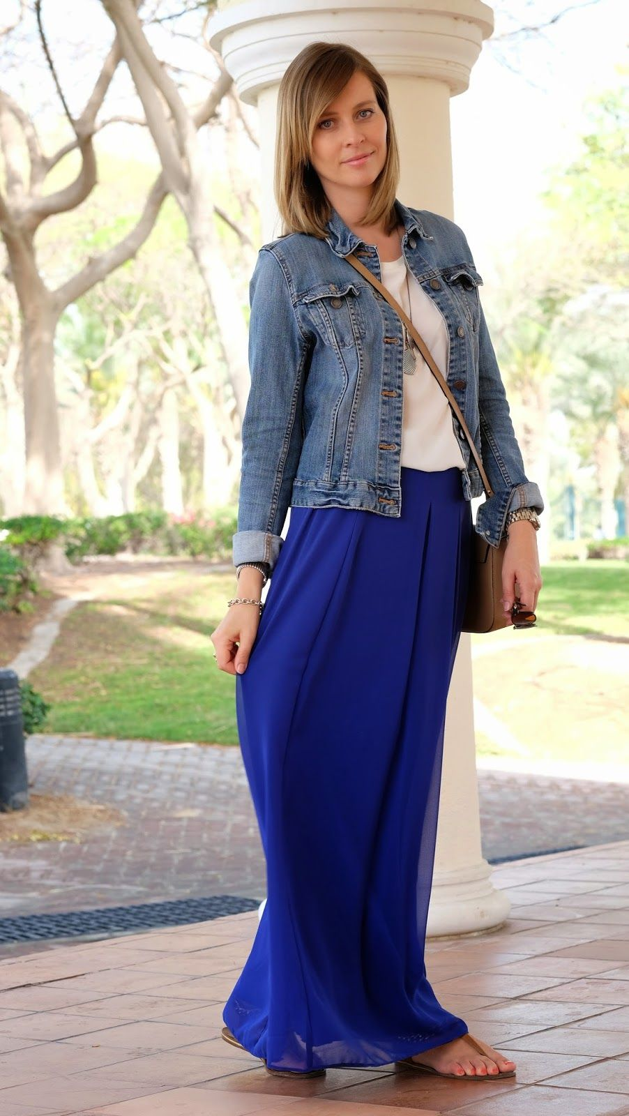 The Royal Blue Maxi Skirt / Lifestyle Oasis | My closet ...