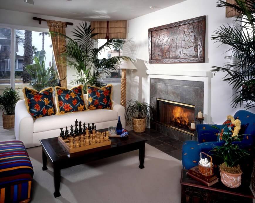 199 Small Living Room Ideas for 2018 | Blue armchair, Tropical ...