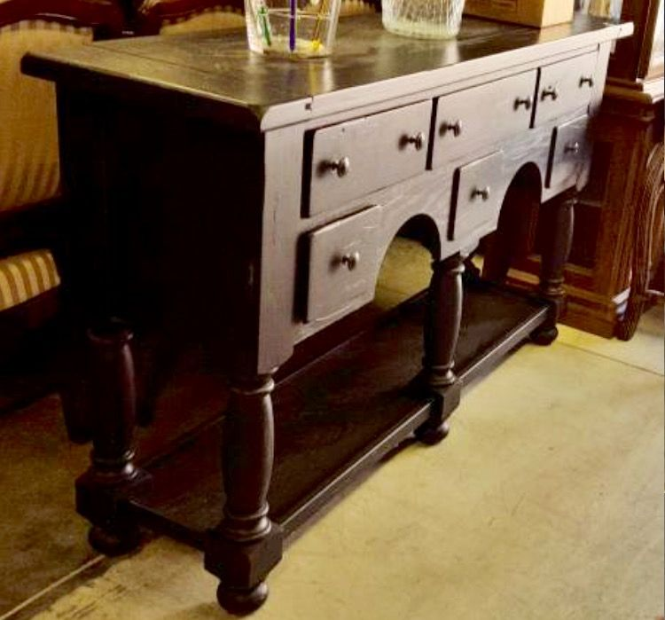Broyhill Attic Heirlooms Buffet In Black Stain