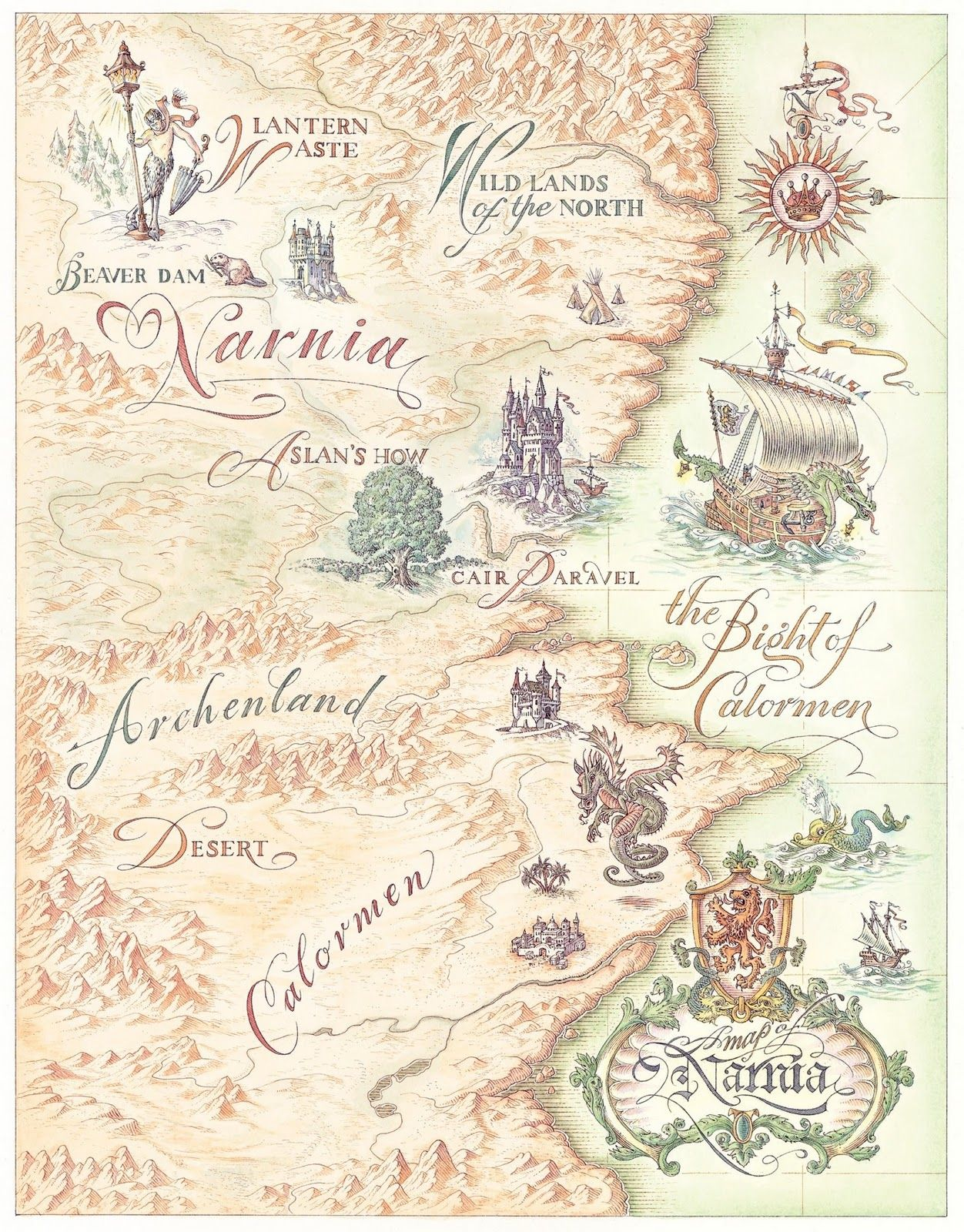 Narnia Libros Map Of Narnia And Surrounding Areas Narnia En 2019