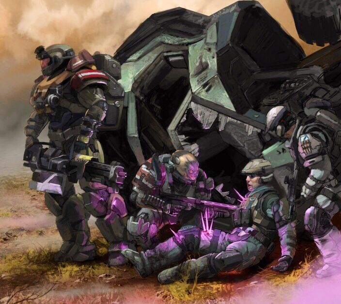 Noble Team Assists Fireteam Charlie | HALO | Halo game, Halo reach