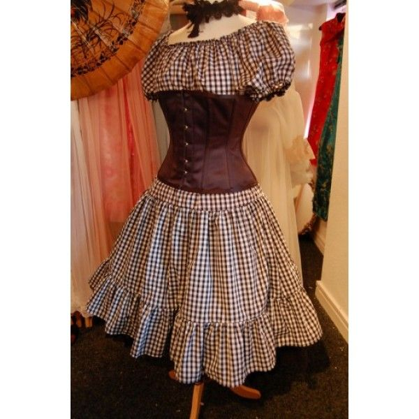 BELLE STARR - Cute Gingham Prairie Dress UK 22-24 | Clothes,hair ...