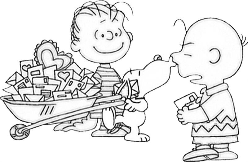 Charlie Brown Valentine Coloring Pages Snoopy Coloring Pages Valentine Coloring Pages Valentines Day Coloring Page