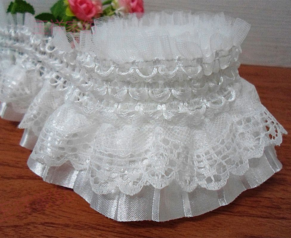 10Yards Flower Lace Decorative clothing craft Sewing accessories DIY
