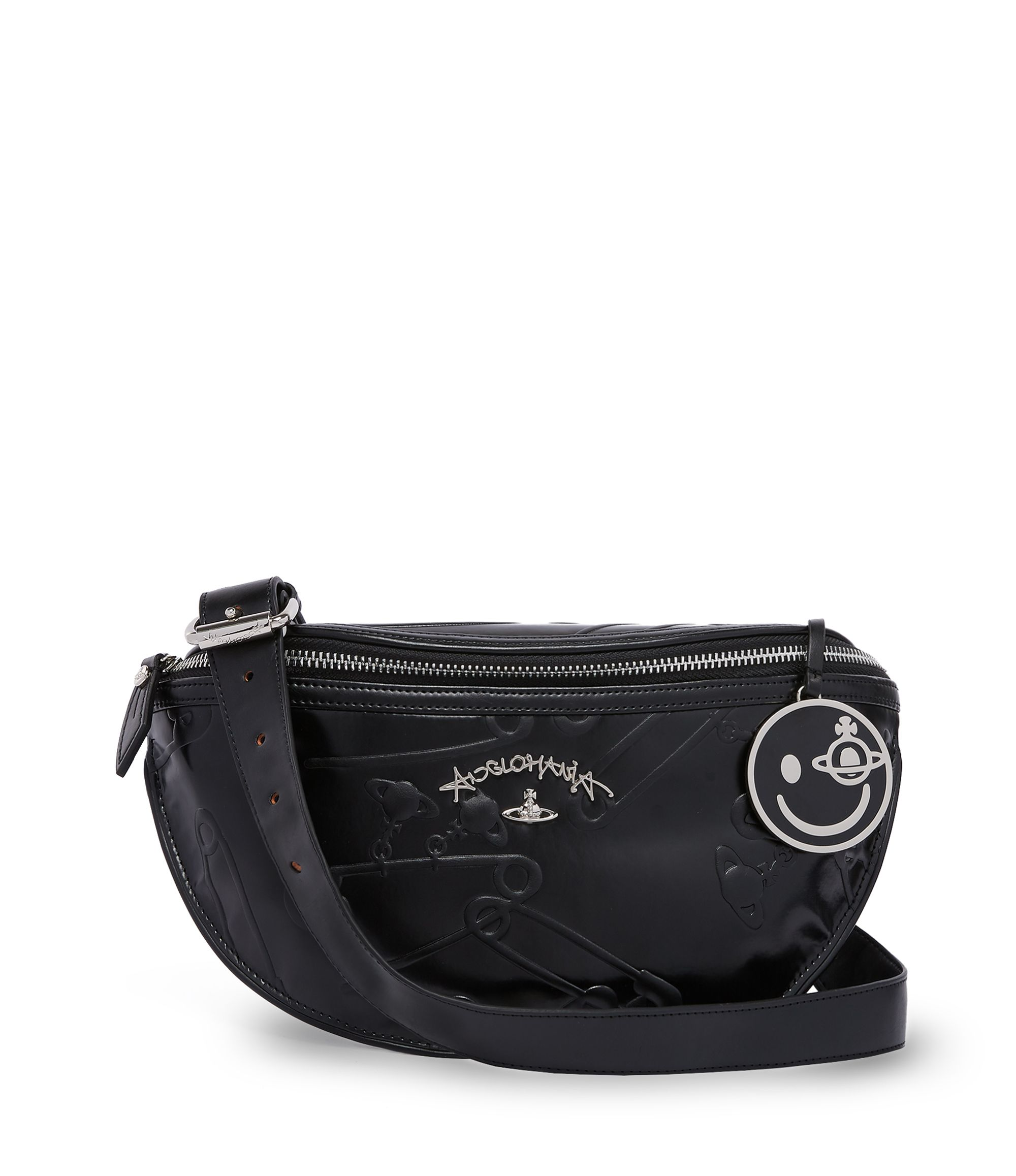 859a4b52f879 VIVIENNE WESTWOOD Black Safety Pin Bum Bag 13975.  viviennewestwood  bags   leather  belt bags