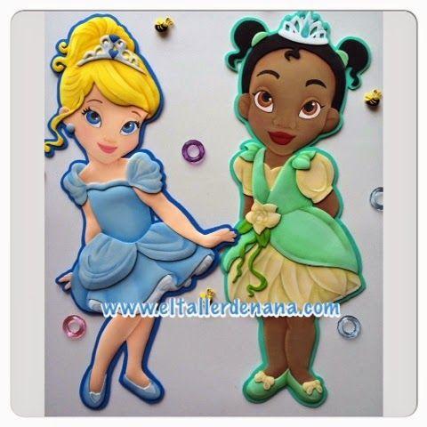 El Taller de Nana: Venta de Moldes | foami princesas disney ...