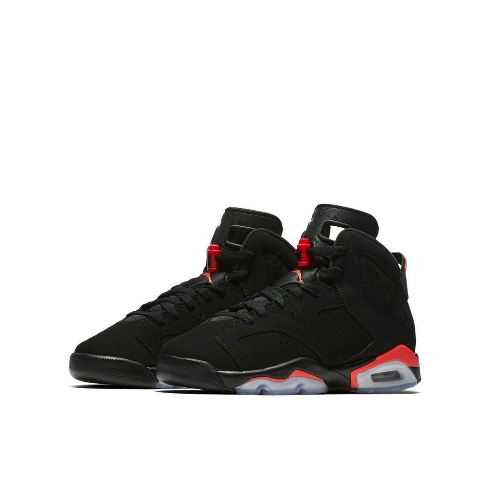 b04f6bf81f427 Nike Air Jordan 6 Retro BG GS Black Infrared OG 2019 Kids Womens AJ6 ...
