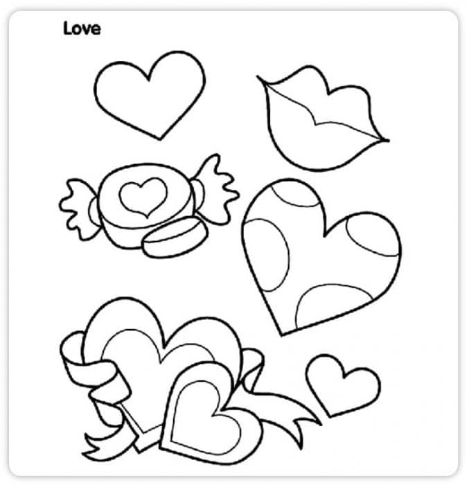 FREE Printable Valentine's Day Coloring Pages for Kids in ...
