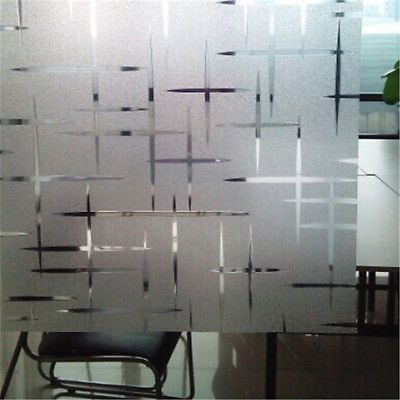 Elegant Decorative Frosted Paper Stained Glass Static Window Vinyl Privacy Film