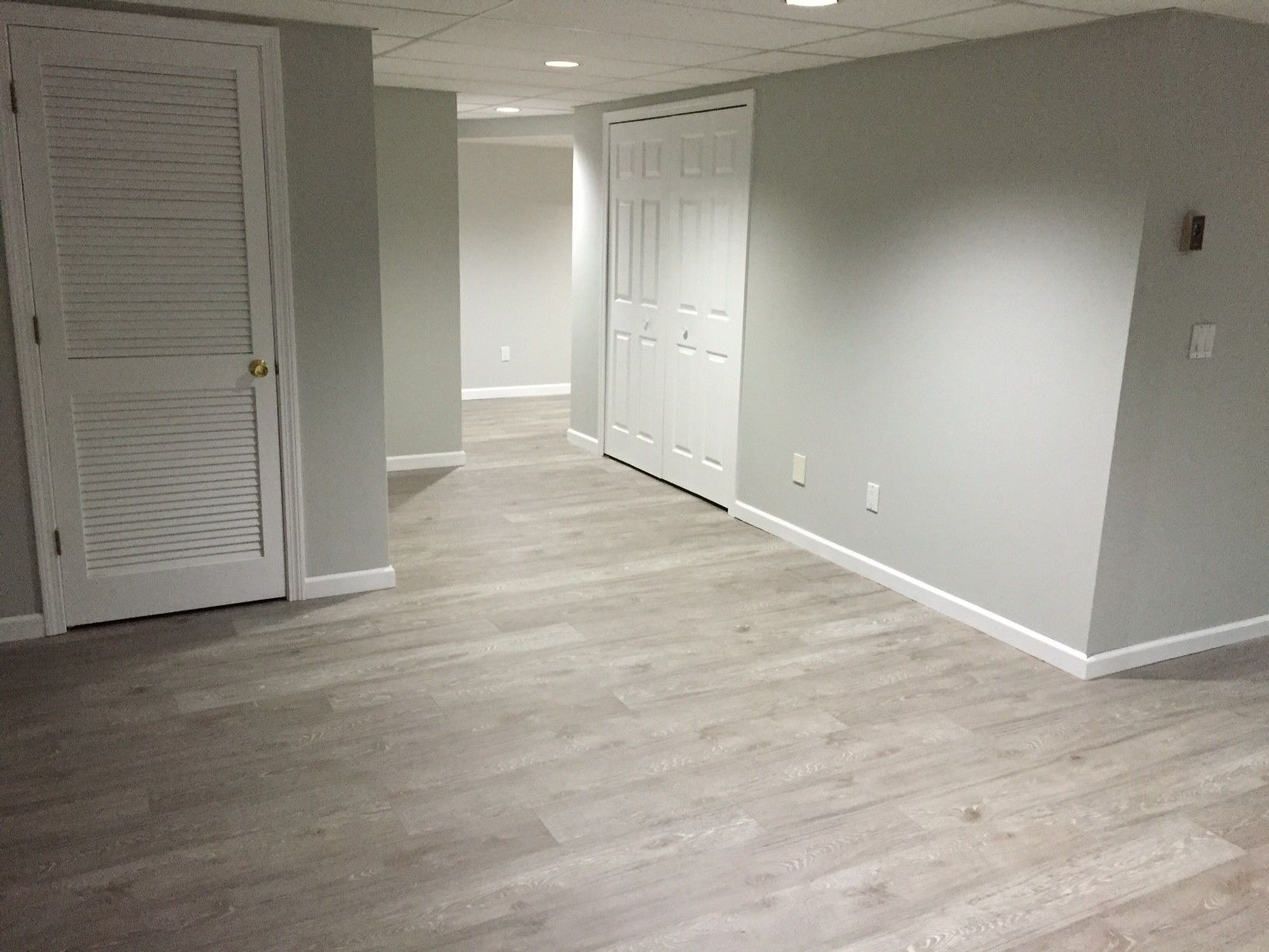Kronoswiss Ecru Pairs Great With The Light Green Walls In This Customer Basement Basement