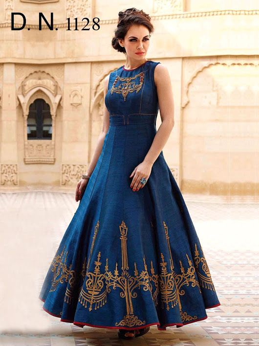 cbfd8495766 Digital Print Raw silk Fabric designer Gown at Rs 2150 -INR. For orders