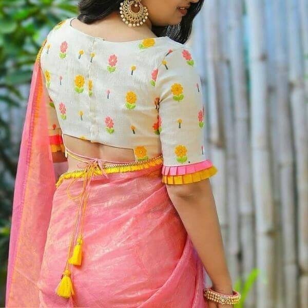 Fancy Saree Blouse Back Neck Designs For Indian Women K4 Fashion Blouse Neck Designs Trendy Blouse Designs Saree Blouse Designs Latest