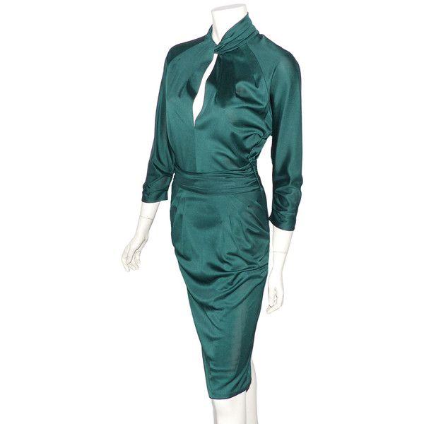 La Grande, Luxe, Robes, Valentino, Knit Dress, Green Silk, Emerald Green,  Inline, Tunics 73d3616ec5e