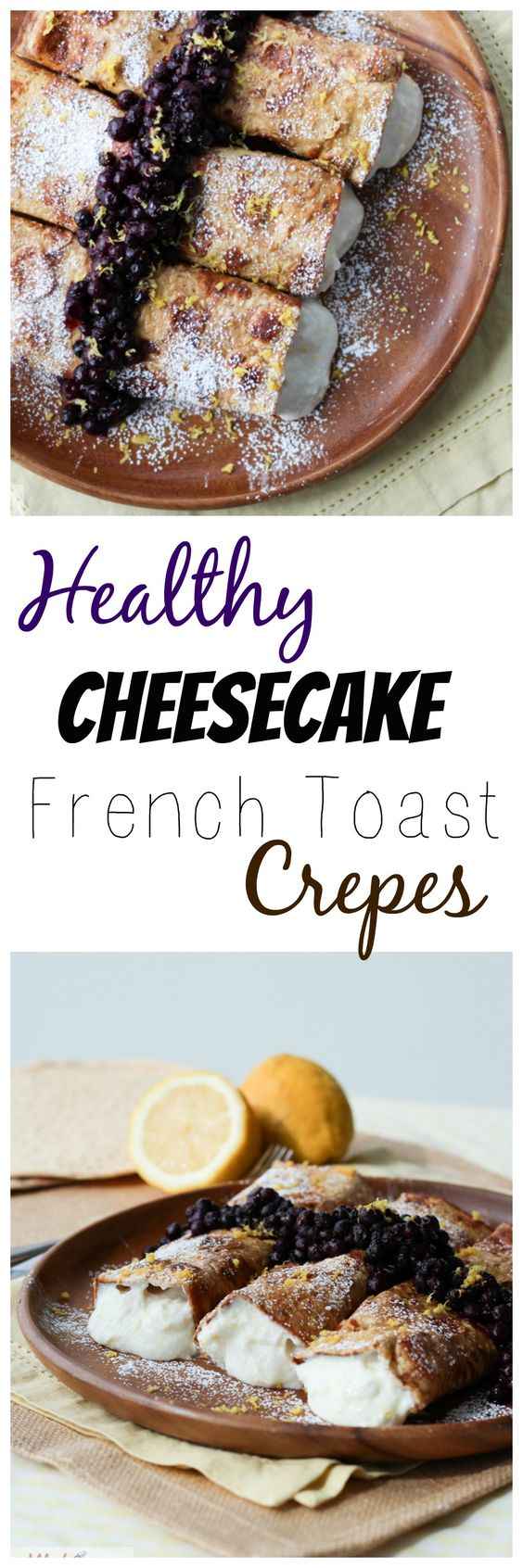 Healthy Stuffed French Toast Crepes with Vanilla Berry Compote made from sandwich wraps that is low in carbs, high in protein and high in fibre.