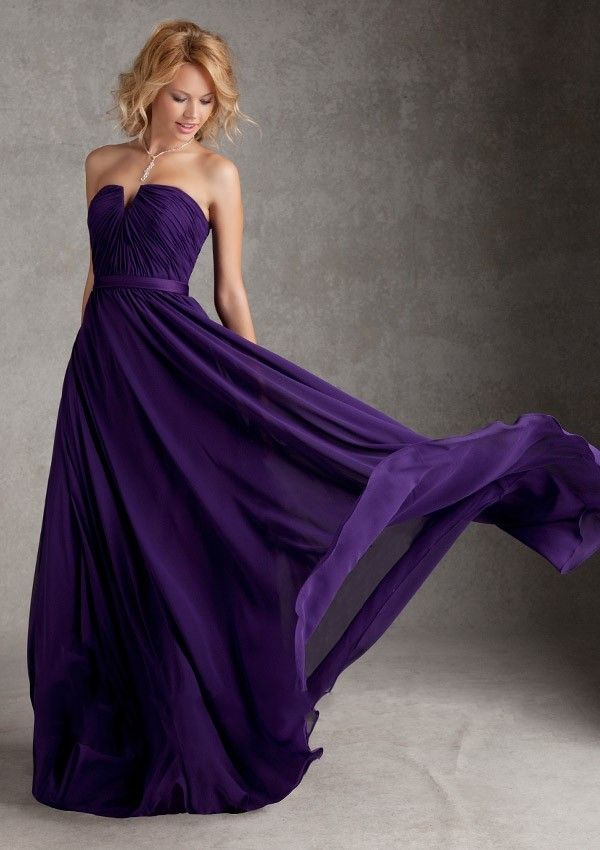 Discount 2016 Designer Strapless Open Back Royal Purple Bridesmaid ...