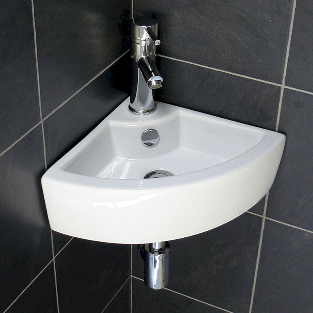 25 Lovely Corner Bathroom Sink Ideas For Small Bathroom Inspiration Freshouz Com Corner Sink Bathroom Small Bathroom Inspiration Corner Sink