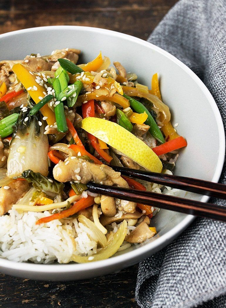 Photo of Quick and Easy 15 Minute Lemon Chicken Stir Fry