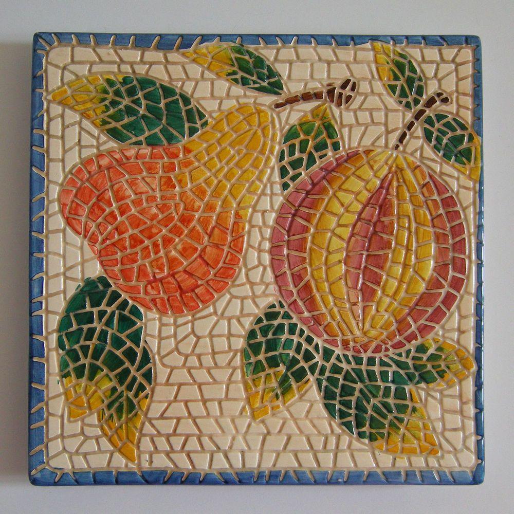 Vintage hand painted ceramic tile trivet hot dishes holder barrarte vintage hand painted ceramic tile trivet hot dishes holder barrarte portugal 8 dailygadgetfo Choice Image