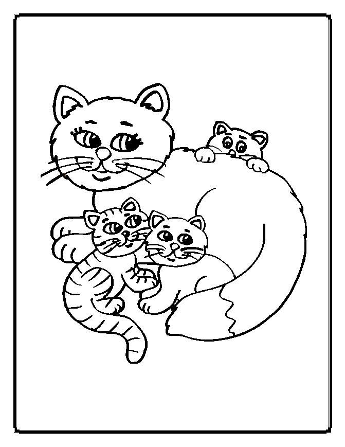 Worksheet. Coloring Picture Of A Cat  Coloring Pages  Pinterest  Cats
