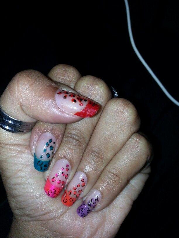 Bright photo of animal nail art